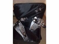 Pearl P1002 Double Pedal with case and extras - £100.00