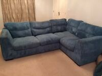 DFS Teale Jumbo Cord Left Hand 3 Seater Corner Sofa - Good clean condition Smoke Free Pet Free Home