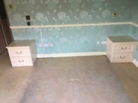 Fitted Sharp Bedroom Wardrobes, drawers and cabinets. V. good condition. You remove. So, only £50.