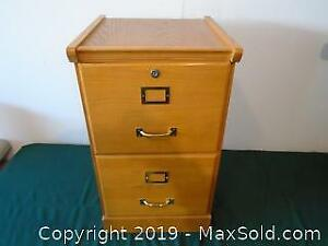 Small Two Drawers Wood Filing Cabinet