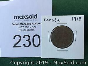 1918 Canadian Large Penny A