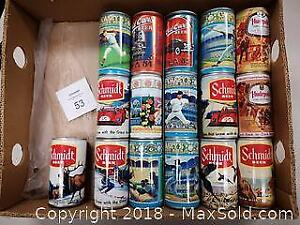 Lot of 16 Collector Beer Cans - B