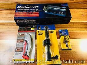 Boxed Drill Bit Set and New Packaged Tools