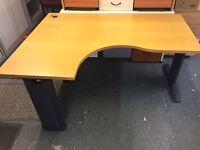 1600 radial corner office desk delivered to Belfast