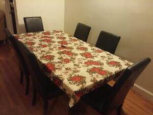 beautiful dining table and furniture