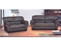 * *SALE*SALE Candy chocolate brown, black, cream or red 2+3 seater sofa set OR corner sofa