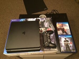 Playstation 4 Slim 500 GB Console-Uncharted 4 Bundle $500 OBO