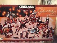 CHRISTMAS LIGHT UP VILLAGE - KIRKLAND SIGNATURE - 32 PIECE