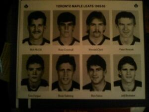 1985-86 Toronto Maple Leafs player personnel pictures VERY RARE!