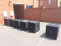x4 unloaded 18inch bass bins x2 18inch unloaded tops