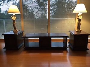 Coffee Table and Two End Tables - custom made