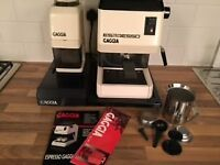 Gaggia Espresso Coffee machine c/w grinder and base unit with drawer for used coffee.