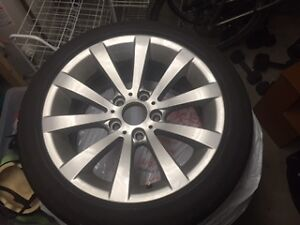 BMW 328i Series wheels and run flats North Shore Greater Vancouver Area image 1