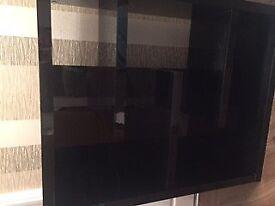 Next black high gloss side unit