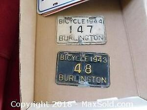 Bicycle and Car Plates A