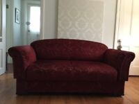 Parker Knoll Newbury Drop End Settee in Rosamund Claret Fabric - EXCELLENT CONDITION