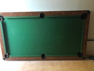 6 foot pool and snooker table with accessories for sale