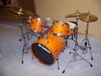 Beautiful Yamaha Stage Custom Drum Kit