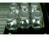 Set of 6 large ikea glass jars