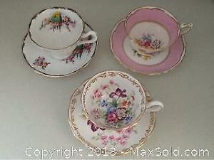 Set Of Three Cups And Saucers