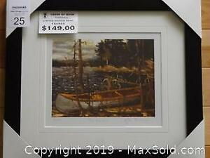 Group of Seven Tom Thomson THE CANOE newly framed with COA