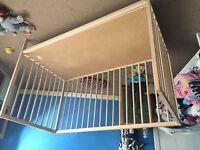 Ikea Hack Cot bed wood no matress