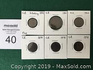 Prime old Great Britain Coins 1844 to 1879 - Time slot A
