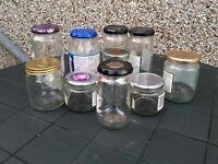 Miscellaneous jam jars