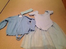 girls ballet outfit 2-3 years light blue