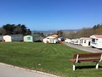 Immaculate 3 bedroom caravan with amazing sea views on beautiful west Wales holiday park
