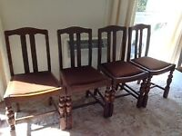 Four 1950's dining chairs