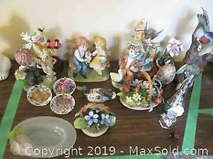 Porcelain And Ceramic Figurines - A
