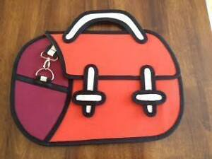 NEW 3D Cartoon Hand Bag with straps - Orange or Green