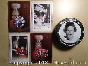 Assortment of Collectible Hockey Stuff