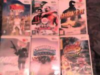 6 Nintendo WII games - £10