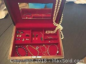 Costume Jewelry and vintage jewelry box