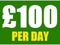 Professional Painters & Decorators from ONLY £100 per day!