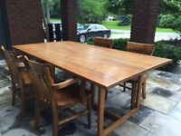Oak Dining Table and Chairs - Excellent Condition