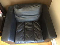 Real Leather Couch set (3 pieces)