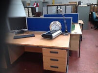 1400MM x 800MM Desk with Intergrated Draw Unit