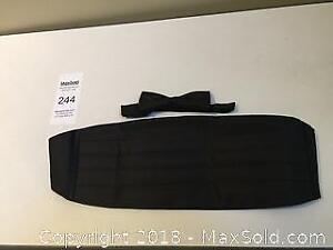 Tuxedo Accessories: Black Bow Tie & Cummerbund with box