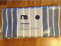 Mothercare Muslins - 6 pack