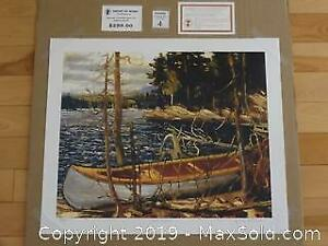 Group of Seven contemporary Tom Thomson unframed limited edition print THE CANOE with COA