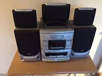 HIFI: 5x cdload ,twin tape and 5 matching speakers