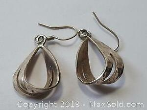 Vintage Sterling Earrings for pierced ears. Marked 925 Mexico