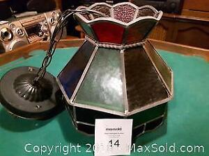 Vintage Stained Glass Lamp A