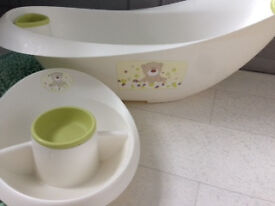 Mother care baby bath + soap dish