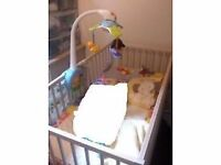 Ikea cot+mattress&protector, excellent conditon, used 6mon only, smoke&pet free, original packing