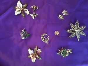 VINTAGE BROACHES, and BROACH / EARRING SETS
