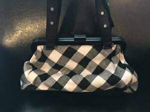 Aldo black and white checkered purse